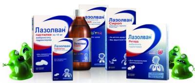 применение лазолвана при сухом кашле