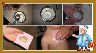 Как сделать лепешку от кашля для детей