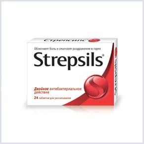 Стрепсилс для орошения рта полезен при болях