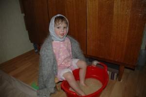 Ножная ванна для ребенка от кашля