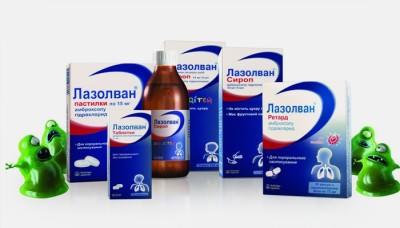 Формы препарата Лазолван от кашля