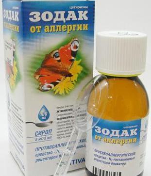 сироп от аллергического кашля Зодак.