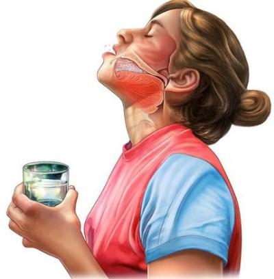 полоскание горла и глант при болезни