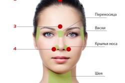 Точки массажа на лице