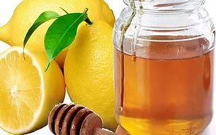 сок лимона и мёд от кашля