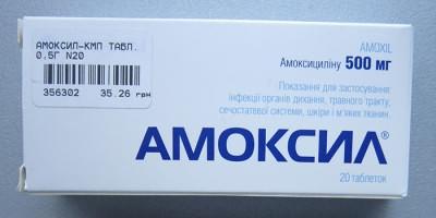 Антибиотики для лечения гайморита: Амоксил