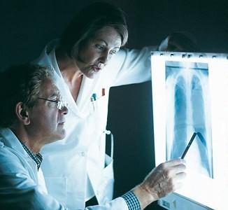 Анализ рентгенограммы пневмонии