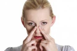Массаж при заложенности носа
