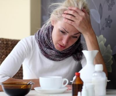 при первых признаках простуды