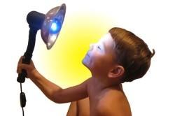 Применение синей лампы
