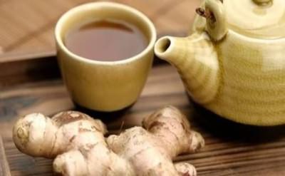 Чай с имбирем от кашля