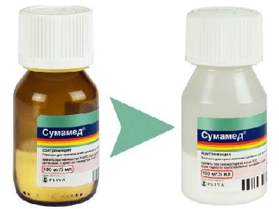 Антибиотик Сумамед для детей в форме капель