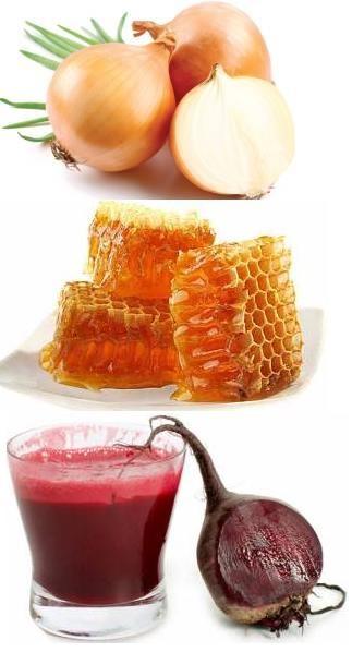 Лук, мед, свекла