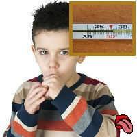 Сухой кашель и температура у ребёнка