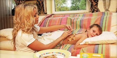 Сухой кашель у ребенка с температурой